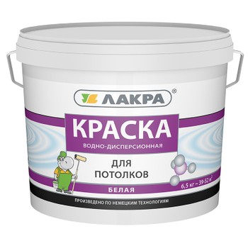 Краска ЛАКРА д/потолков (белая), 6,5кг