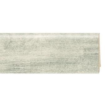 Плинтус шпонированный Tarkett New ART высокий Белый Канвас/ WHITE CANVAS, 80х20х2400 мм, 559541067