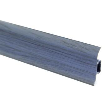 Плинтус пластиковый Т-пласт 035, Дуб синий/Ольха синяя 58х22х2500 мм