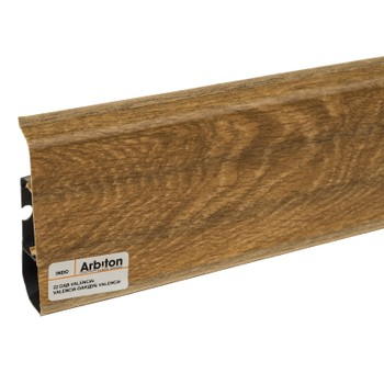 Плинтус Arbiton Indo 22, Дуб Валенсия, 2500х70х26 мм