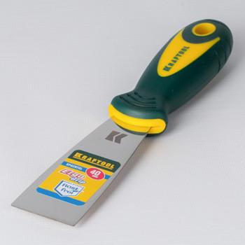 Шпатель малярный 40мм нерж. с 2-х комп.ручкой, KRAFTOOL