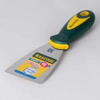 Шпатель малярный 65мм нерж. с 2-х комп.ручкой, KRAFTOOL