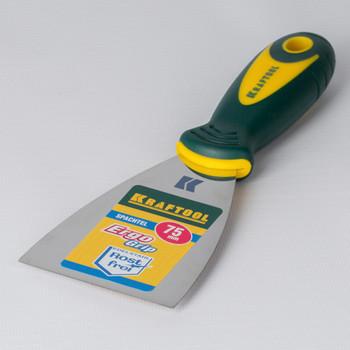 Шпатель малярный нержавеющий с 2-компонентной ручкой KRAFTOOL 75 мм
