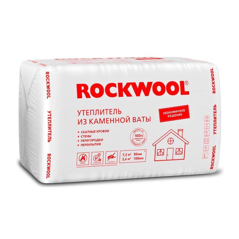 Утеплитель Rockwool Эконом 26 кг/м³ 39λ (1000х600х50) 12 шт/уп