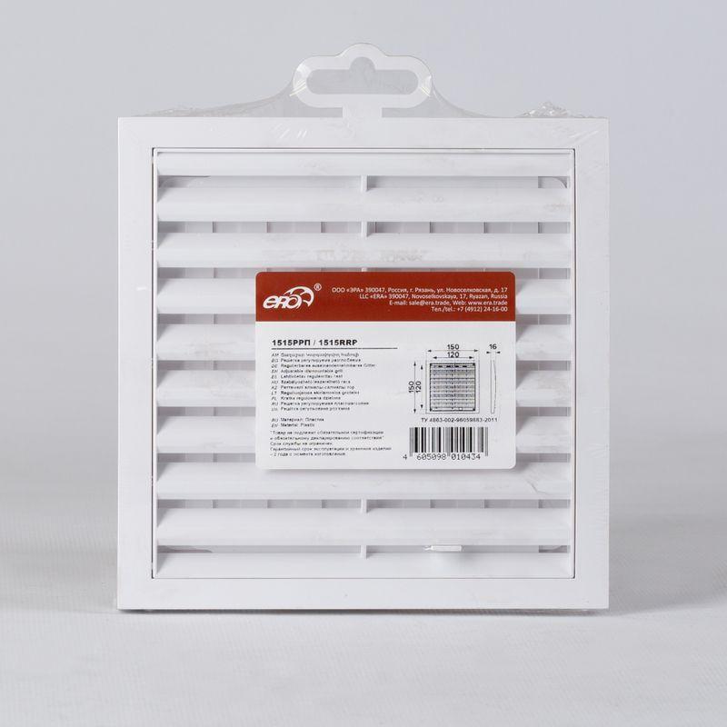 Решетка вентиляционная регулируемая 150х150мм накл. 1515РРП Эковент
