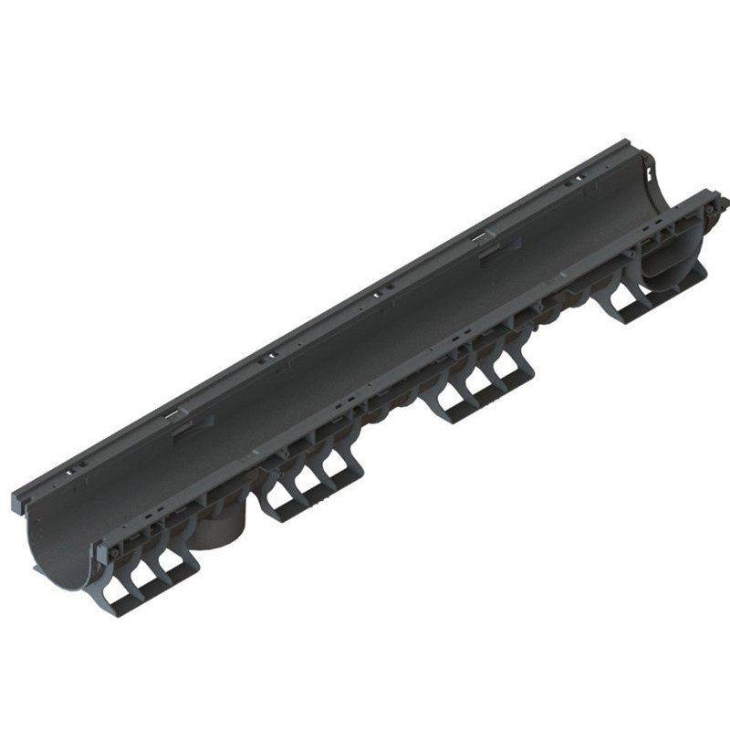 Лоток водоотводный пластик. PolyMax Basic 1000x160x120 мм, 8020