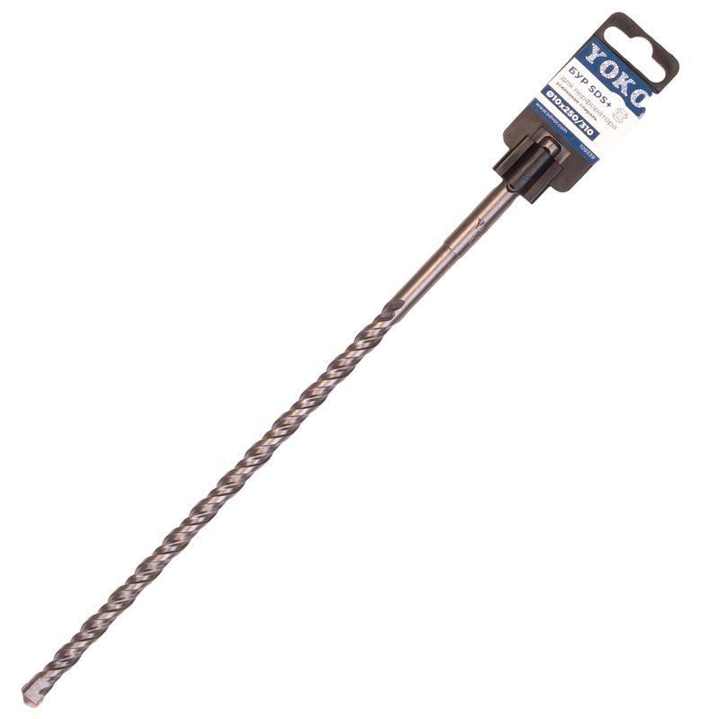 Бур SDS+ 10х250/310мм Yoko<br>Бренд: Yoko; Модель: Sds+ 10х250/310; Код производителя: 109339; Тип: Шнековый; Тип хвостика: SDS-plus; Тип спирали: Одинарный; Область применения: Бетон, кирпич; Общая длина: 310 мм; Рабочая длина: 250 мм; Диаметр: 10 мм; Количество в упаковке: 1 шт; Размеры: 10х310 мм; Родина бренда: Россия; Страна производитель: Китай; Вес: 0,121 кг;