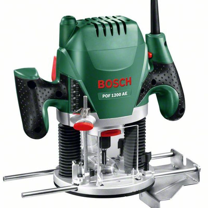 Фрезер BOSCH POF 1200 AE<br>Бренд: Bosch; Модель: Pof 1200 ae; Тип: Погружной; Вид: Вертикальный; Мощность: 1200 Вт; Напряжение: 230 В; Величина хода: 55 мм; Макс. скорость вращения: 28000 об/мин; Размер цанги: 6/8 мм; Дополнительные функции: Регулировка глубины; Дополнительные функции: Защита от перегрузок; Дополнительные функции: Регулировка скорости; Комплектация: Фреза; Комплектация: Цанговые патроны; Комплектация: Фрезер; Комплектация: Параллельный упор; Комплектация: Копировальная втулка; Комплектация: Центрирующий стержень; Комплектация: Всасывающий переходник; Родина бренда: Германия; Страна производитель: Китай; Гарантия: 36 мес; Вес: 3,4 кг;
