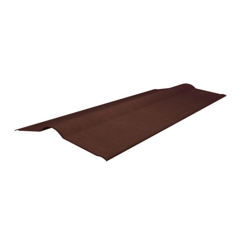 Коньковый элемент Onduline красный 1000 х 420 ммКоньковый элемент красный 1000 х 420 мм<br><br>Доборный&amp;nbsp;конек для скатной кровли<br><br>НАЗНАЧЕНИЕ:<br><br>Защищает примыкания скатов кровли от попадания осадков, мусора, влаги и пыли<br><br>ПРЕИМУЩЕСТВА:<br><br>Экологичность &amp;mdash; металлическая кровля безвредна для окружающей среды;<br>Долговечность эксплуатации &amp;mdash; срок службы достигает 50 лет при правильной установке;<br>Отсутствует необходимость в дополнительном уходе и обслуживании;<br>Легкость &amp;mdash; металлическое кровельное покрытие не нагружает каркас крыши;<br>Пожаробезопасность &amp;mdash; металлическая кровля относится к&amp;nbsp;слабогорючим&amp;nbsp;и трудновоспламеняемым материалам;<br>Кровля из металла обладает скользкой поверхностью, поэтому она не накапливает листья осенью и снег зимой.<br><br>РЕКОМЕНДАЦИИ:<br><br>Рекомендации по работе:<br><br>Правильно укладывайте&amp;nbsp;гидро-&amp;nbsp;и пароизоляцию, чтобы избежать скопления конденсата;<br>Используйте саморезы соответствующие толщине покрытия;<br>Старайтесь не нарушать декоративный слой кровельного покрытия, он защищает листы от коррозии;<br>Передвигайтесь по поверхности крыши в мягкой обуви;<br>Своевременно (через три месяца после установки) производите протяжку саморезов.<br><br>Рекомендации по хранению:<br><br>Храните металлическое покрытие в проветриваемом помещении недоступном для атмосферных воздействий.<br>Длина: 1000; Бренд: Onduline; Ширина: 420; Назначение: Еврошифер; Размер: 1000х420 мм; Толщина: 3 мм; Цвет: Красный; Покрытие: ПЭ (полиэстер);
