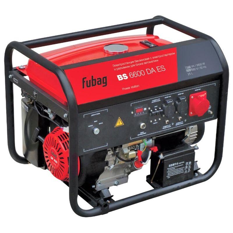 Генератор бензиновый FUBAG BS 6600 DA ES<br>Мощность максимальная: 8/10,9 Вт; Объем двигателя: 420 см?; Номинальный ток: 8,69 А; Вес: 90 кг;
