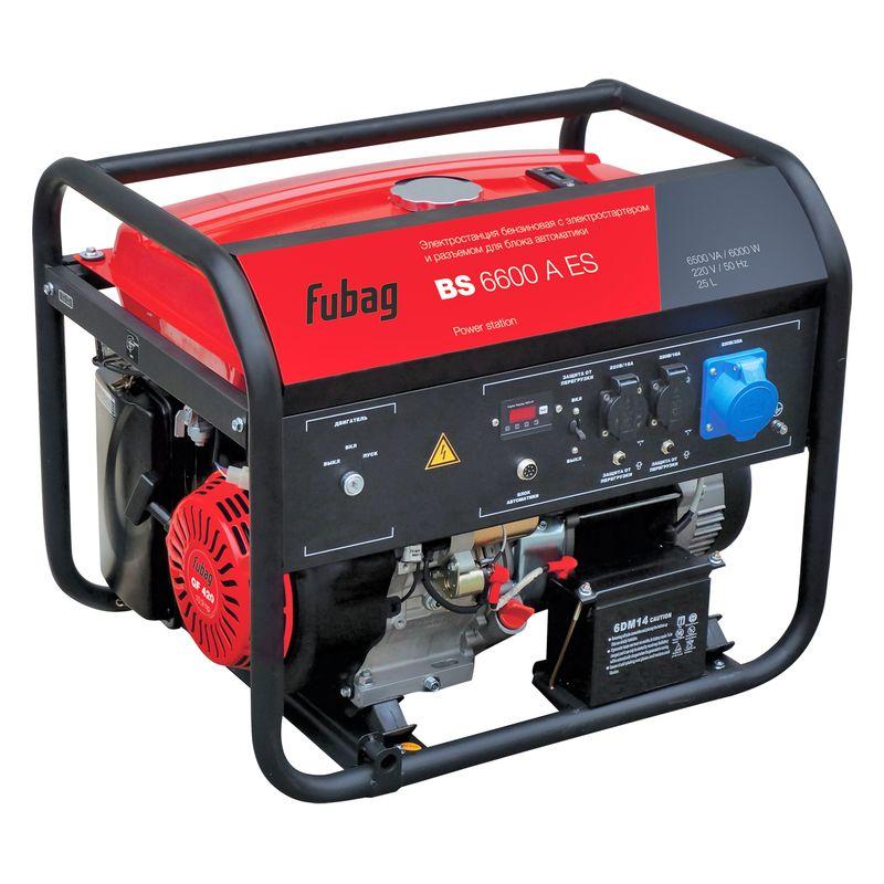 Генератор бензиновый FUBAG BS 6600 A ES<br>Бренд: Fubag; Модель: Fubag; Мощность максимальная: 8,0/10.9 Вт; Тип двигателя: Профессиональный ohv-двигатель; Объем двигателя: 420 см?; Номинальный ток: 26 А; Вес: 87 кг;