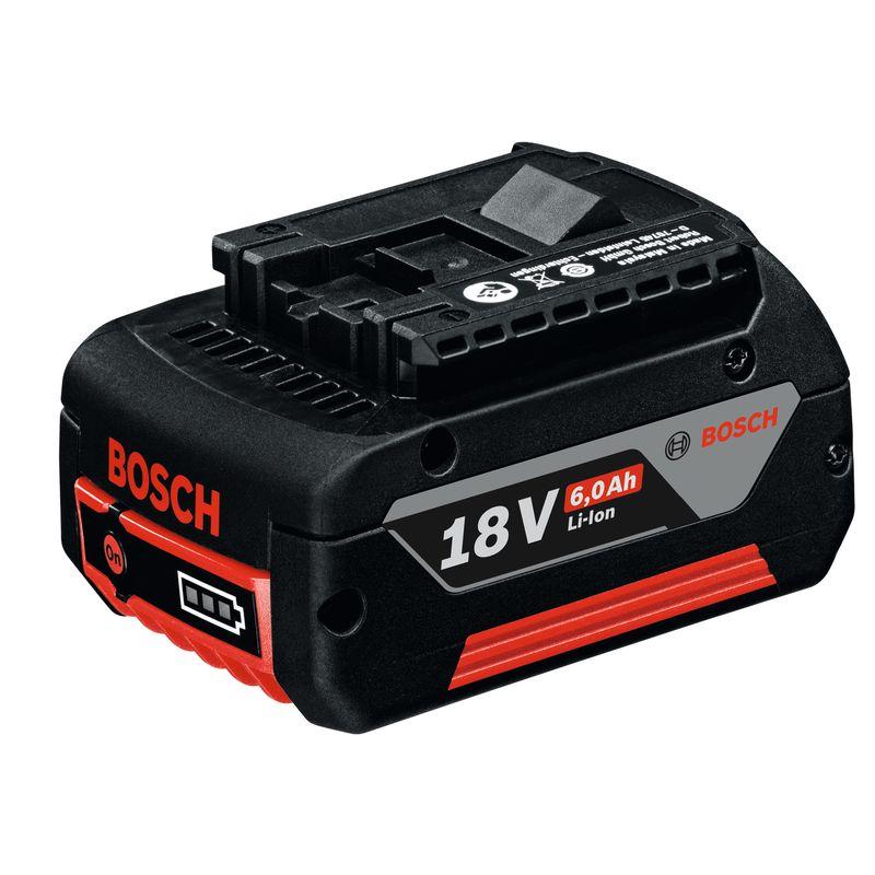Аккумуляторный блок GBA 18 V 6.0 Ah M-CАккумуляторный&amp;nbsp;блок&amp;nbsp;BOSCH&amp;nbsp;GBA&amp;nbsp;18V&amp;nbsp;6,0&amp;nbsp;Ah&amp;nbsp;M-C&amp;nbsp;Professional<br><br>Компактная&amp;nbsp;и&amp;nbsp;легкая&amp;nbsp;литий-ионная&amp;nbsp;батарея&amp;nbsp;для&amp;nbsp;профессиональных&amp;nbsp;аккумуляторных&amp;nbsp;инструментов&amp;nbsp;BOSCH&amp;nbsp;(с&amp;nbsp;классом&amp;nbsp;напряжения&amp;nbsp;18В).<br><br>НАЗНАЧЕНИЕ:<br><br>Независимый&amp;nbsp;источник&amp;nbsp;питания&amp;nbsp;инструментов&amp;nbsp;для&amp;nbsp;дерево-,&amp;nbsp;металлообработки,&amp;nbsp;строительства&amp;nbsp;и&amp;nbsp;ремонта.<br><br>ПРЕИМУЩЕСТВА:<br><br>Емкость&amp;nbsp;аккумуляторной&amp;nbsp;батареи&amp;nbsp;&amp;ndash;&amp;nbsp;6,0Ah;<br>Удобство&amp;nbsp;и&amp;nbsp;комфорт&amp;nbsp;при&amp;nbsp;использовании&amp;nbsp;(вес&amp;nbsp;&amp;ndash;&amp;nbsp;620г,&amp;nbsp;габариты,&amp;nbsp;ДхШхВ&amp;nbsp;&amp;ndash;&amp;nbsp;115х74х56мм,&amp;nbsp;позволяют&amp;nbsp;производить&amp;nbsp;работы&amp;nbsp;в&amp;nbsp;труднодоступных&amp;nbsp;местах);<br>Электронная&amp;nbsp;система&amp;nbsp;Electronic&amp;nbsp;Cell&amp;nbsp;Protection&amp;nbsp;предотвращает&amp;nbsp;полную&amp;nbsp;разрядку&amp;nbsp;аккумулятора&amp;nbsp;(при&amp;nbsp;разряженном&amp;nbsp;накопителе&amp;nbsp;<br><br>эл.энергии,&amp;nbsp;рабочий&amp;nbsp;инструмент&amp;nbsp;перестает&amp;nbsp;работать);<br>Система&amp;nbsp;COOLPACK&amp;nbsp;увеличивает&amp;nbsp;время&amp;nbsp;работы&amp;nbsp;аккумулятора&amp;nbsp;на&amp;nbsp;65% (по&amp;nbsp;сравнению&amp;nbsp;с&amp;nbsp;аналогичной&amp;nbsp;батареей&amp;nbsp;предыдущего&amp;nbsp;поколения)&amp;nbsp;и&amp;nbsp;положительно&amp;nbsp;влияет&amp;nbsp;на&amp;nbsp;его&amp;nbsp;функционирование&amp;nbsp;<br><br>при&amp;nbsp;пониженных&amp;nbsp;температурах;<br>Литий-ионная&amp;nbsp;технология&amp;nbsp;препятствует&amp;nbsp;саморазряду&amp;nbsp;и&amp;nbsp;&amp;laquo;эффекту&amp;nbsp;памяти&amp;raquo;&amp;nbsp;аккумуляторной&amp;nbsp;батареи;<br>Аккумулятор&amp;nbsp;совместим