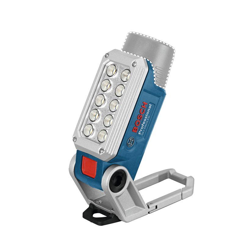 Фонарь аккумуляторный Bosch GLI 12V-330, 10 светодиодовАккумуляторный фонарь GLI 12V-330 BOSCH<br><br>Универсальный профессиональный аккумуляторный фонарь.<br><br>НАЗНАЧЕНИЕ:<br><br>Переносное оборудование для освещения рабочей зоны внутри помещений и на улице.<br><br>ПРЕИМУЩЕСТВА:<br><br>Мобильность (работа от аккумулятора независимо от сети);<br><br>Прочная конструкция (долгий срок службы);<br><br>Аккумуляторная батарея с системой защиты от перегрузки, перегрева;<br><br>10 светодиодов с двумя вариантами яркости (выбор оптимального освещения);<br><br>Несколько видов крепления крюк, магнит, карабин и резьба для штатива (любой вариант установки в рабочей зоне);<br><br>Настраиваемый угол освещения (до 200 градусов);<br><br>Вес 0,3 кг и компактность (эксплуатация без сложностей).<br><br>РЕКОМЕНДАЦИИ<br><br>Рекомендации по работе:<br><br>Вставить заряженную аккумуляторную батарею в фонарь.<br><br>Установить фонарь и включить.<br><br>Для регулировки яркости использовать кнопку включения (короткое или длительное нажатие).<br><br>При наклоне фонаря более 90 градусов, его лучше фиксировать.<br><br>Рекомендации по хранению:<br><br>Извлекать аккумулятор из фонаря при хранении, транспортировке.<br><br>Хранить в сухом месте без перепада температур, недоступном для детей.<br><br>МЕРЫ ПРЕДОСТОРОЖНОСТИ<br><br>Не направлять луч света на людей, животных.<br><br>Не использовать аккумуляторный фонарь в дорожном движении.<br><br>Защищать аккумулятор от высоких температур, влаги и мелких металлических предметов.<br><br>Не подходит для постоянного освещения помещений.<br><br>&amp;nbsp;<br>Страна производитель: Китай; Бренд: Bosch; Модель: Gli 12v-330; Цвет: Синий; Цвет луча: Белый; Тип: Ручной; Источник света: Светодиод; Тип светодиода: -; Количество светодиодов: 10; Тип питания: Встроенный аккумулятор; Элемент питания: Аккумулятор; Количество режимов: 2; Яркость: 330 люмен; Время работы: 3 ч; Материал корпуса: Пластик; Тип рефлектора: Гладкий; Степень защиты: IP 44; Функциональность: Ре