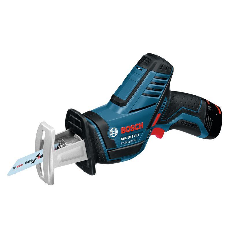 Пила сабельная BOSCH GSA 10,8 V-LIАккумуляторная&amp;nbsp;ножовка&amp;nbsp;GSA&amp;nbsp;10,8&amp;nbsp;V-LI<br><br>Электроинструмент&amp;nbsp;для&amp;nbsp;распиливания<br><br>НАЗНАЧЕНИЕ:<br><br>Для&amp;nbsp;распиливания&amp;nbsp;на&amp;nbsp;жесткой&amp;nbsp;опоре;<br>Распиливание&amp;nbsp;древесины;<br>Распиливание&amp;nbsp;пластмасс;<br>Распиливание&amp;nbsp;металла;<br>Распиливание&amp;nbsp;строительных&amp;nbsp;материалов;<br>Для&amp;nbsp;прямых&amp;nbsp;и&amp;nbsp;криволинейных&amp;nbsp;пропилов;<br><br>ПРЕИМУЩЕСТВА:<br><br>Быстрая&amp;nbsp;смена&amp;nbsp;пильных&amp;nbsp;полотен&amp;nbsp;(система&amp;nbsp;Bosch&amp;nbsp;SDS);<br>Увеличенное&amp;nbsp;время&amp;nbsp;работы&amp;nbsp;на&amp;nbsp;одном&amp;nbsp;заряде&amp;nbsp;аккумулятора&amp;nbsp;(литий&amp;nbsp;ионная&amp;nbsp;технология&amp;nbsp;класса&amp;nbsp;Premium);<br>Система&amp;nbsp;защиты&amp;nbsp;аккумулятора&amp;nbsp;от&amp;nbsp;перегрузки&amp;nbsp;перегрева&amp;nbsp;и&amp;nbsp;глубокого&amp;nbsp;разряда;<br>Защита&amp;nbsp;от&amp;nbsp;перегрузки&amp;nbsp;(встроенный&amp;nbsp;индикатор&amp;nbsp;перегрузки&amp;nbsp;инструмента);<br>Возможность&amp;nbsp;работы&amp;nbsp;в&amp;nbsp;слабоосвещенных&amp;nbsp;местах&amp;nbsp;(встроенная&amp;nbsp;подсветка&amp;nbsp;рабочей&amp;nbsp;зоны);<br>Сверхкомпактный&amp;nbsp;(вес&amp;nbsp;1,2&amp;nbsp;кг);<br>Эргономичная&amp;nbsp;рукоятка&amp;nbsp;(максимальный&amp;nbsp;комфорт&amp;nbsp;в&amp;nbsp;работе);<br>Контроль&amp;nbsp;уровня&amp;nbsp;заряда&amp;nbsp;аккумулятора&amp;nbsp;(индикатор&amp;nbsp;заряда);<br>Батарея&amp;nbsp;без&amp;nbsp;эффекта&amp;nbsp;памяти(&amp;nbsp;можно&amp;nbsp;заряжать&amp;nbsp;при&amp;nbsp;любом&amp;nbsp;уровне&amp;nbsp;зарядки&amp;nbsp;батареи);<br>Оптимальная&amp;nbsp;работа&amp;nbsp;(Электронная&amp;nbsp;регулировка&amp;nbsp;скорости);<br><br>РЕКОМЕНДАЦИИ:<br><br>Общие&amp;nbsp;рекомендации:<br><br>Используйте&amp;nbsp;только&amp;nbsp;исправный&amp;nbsp;инструмент&amp;nbsp;(без&amp;nbsp;повреждений&amp;nbsp;корпуса&amp;nbsp;и&amp;nbsp;