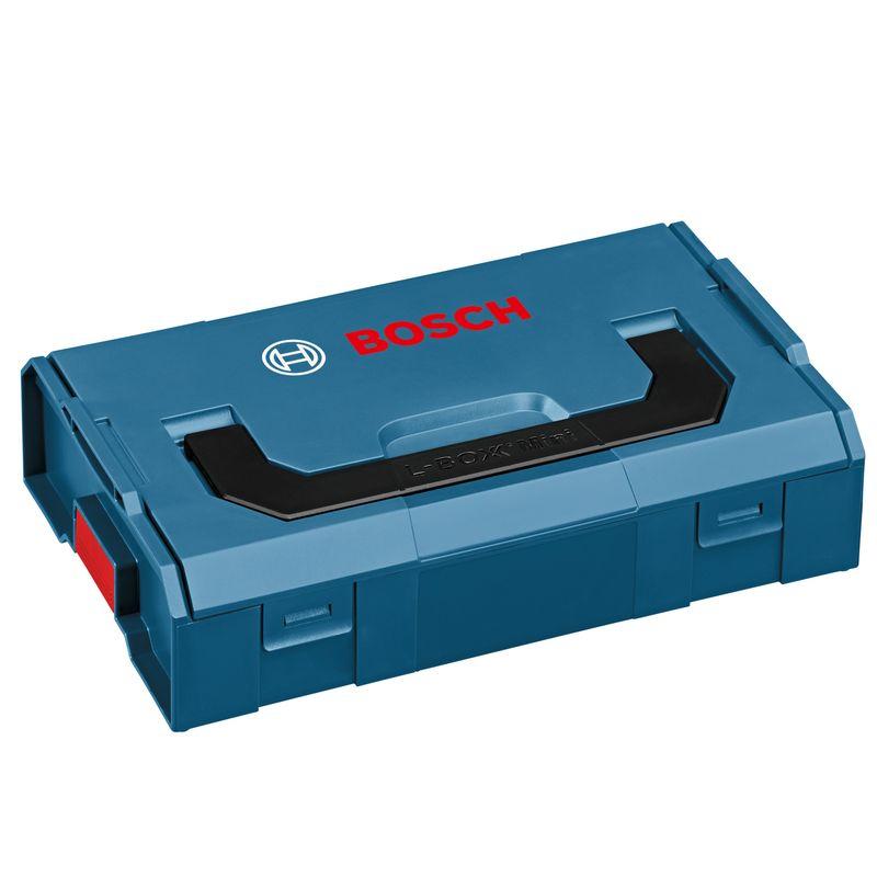 Контейнер для мелких деталей L-BOXX MiniЯщик для инструментов (кейс) L-BOXX MINI Professional BOSCH<br><br>Профессиональный контейнер для хранения расходных материалов на стройплощадке, в мастерской и транспорте.<br><br>НАЗНАЧЕНИЕ:<br><br>Размещение, хранение и транспортировка расходных материалов (гайки, шурупы, свёрла и т.д.).<br><br>ПРЕИМУЩЕСТВА:<br><br>Долговечность (материал &amp;ndash; ударопрочный влагостойкий термопластик);<br>Универсальность (цельные, раздельные и половинные вкладыши для размещения оснастки);<br>Безопасность (фиксация по щелчку);<br>Удобство в использовании (небольшой вес для моделей данного класса &amp;ndash; 0,3 кг; компактные габариты; ручка для переноски).<br>Бренд: Bosch; Тип: Контейнер; Конструкция: Закрытый; Назначение: Для мелочей; Назначение: Для метизов; Особенности: Пригодный для хранения пищевых продуктов; Особенности: Механизм фиксации на защелках; Особенности: Складная ручка; Нагрузка: 1,5 кг; Инструмент в комплекте: Нет; Количество ящиков: Без ящиков; Длина: 155 мм; Ширина: 260 мм; Высота: 63 мм; Материал: Полипропилен; Количество полок: Без полок; Масса: 0,3 кг;