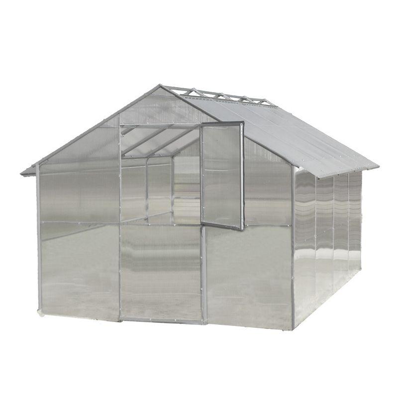 Теплица Воля Дельта 6,4 (каркас+поликарбонат 4мм)Теплица под поликарбонат с покрытием Воля Дельта 6<br><br>Теплица с покрытием из поликарбоната для сада и огорода с двускатной<br>сдвижной крышей<br><br>НАЗНАЧЕНИЕ:<br><br>Теплица предназначена для выращивания садовых растений и продления<br>времени их плодоношения.<br><br>ПРЕИМУЩЕСТВА:<br><br>Каркас из стальной оцинкованной профильной трубы 20*20мм не ржавеет и не<br>деформируется;<br>Конструкция теплицы с раздвижной крышей позволяет не снимать все<br>покрытие на зиму, а снимать только верхние панели, снег в данном случае<br>естественным образом покрывает землю и не дает ей промерзать, а теплица<br>не проседает от нагрузки;<br>Благодаря раздвижной крыше, и солнечные лучи, и дождь могут напрямую<br>попадать в теплицу;<br>Ширина теплицы — 2,5 метра - позволяет разместить две широкие гряды для<br>растений;<br>Конструкция в виде домика и высота 2,2 метра делают удобным выращивание<br>высокорослых культур;<br>Для установки не обязательно заливать фундамент, нужно лишь углубить<br>каркас в грунт;<br>Разобранный каркас можно транспортировать на легковом автомобиле;<br>В комплект входит все необходимое для установки — и крепления, и<br>подробная инструкция;<br>Возможно наращивать длину теплицы при необходимости;<br>Создать благоприятный температурный режим можно при помощи верхних<br>раздвижных секций и двусоставных торцевых дверей с обеих сторон;<br>Покрытие из поликарбоната прочное и прозрачное (пропускает около 90%<br>естественного освещения).<br><br>Рекомендации по работе:<br><br>На зиму снимайте верхние панели;<br>Располагайте каркас на плоской и ровной поверхности;<br>Устанавливайте теплицу на расстоянии не менее двух метров от объектов, с<br>которых может упасть снег;<br>При сборке осуществляйте крепление по всем отверстиям, это сделает<br>конструкцию максимально прочной;<br>Предварительную сборку производите без затягивания винтовых соединений.<br><br>МЕРЫ ПРЕДОСТОРОЖНОСТИ:<br><br>При монтаже теплицы берегите руки от