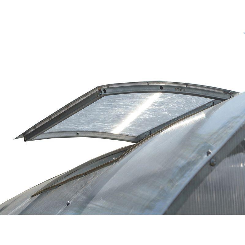 Форточка для теплицы Воля Бетта 1020<br>Материал покрытия: Поликарбонат; Материал каркаса: Оцинкованная сталь; Производитель: Воля; Модель теплицы: Бетта;