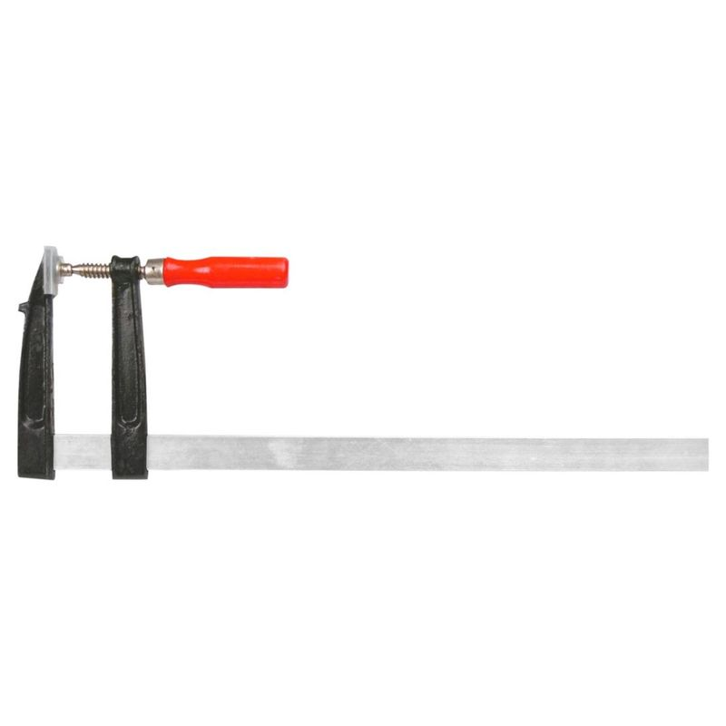 Струбцина тип F 50x150 ммСтрубцина тип F 50*150мм<br><br>Фиксирующий ручной инструмент<br><br>НАЗНАЧЕНИЕ:<br><br>Фиксация и удерживание деталей при склеивании в плотницких, слесарных, а так же других видах работ<br><br>ПРЕИМУЩЕСТВА:<br><br>Надежная фиксация деталей (винтовая резьба с зажимом);<br><br>Удобна в работе (оснащена эргономичной деревянной рукояткой для лучшего захвата);<br><br>Произведена из высокопрочной стали, защищена от коррозии;<br><br>Дополнительно имеются защитные накладки на рабочих губках струбцины;<br><br>Малогабаритные размеры позволяют производить работы с мелкими деталями.<br><br>РЕКОМЕНДАЦИИ:<br><br>Тип и размеры струбцины должны соответствовать виду выполняемых работ;<br><br>После использования удалите излишки клея с поверхности инструмента;<br><br>Избегайте попадания влаги в механизм инструмента.<br>Бренд: Topex; Назначение: По дереву и металлу; Тип: F-образная; Длина: 150 мм; Глубина зажима: 50 мм; Рабочий ход: 150 мм; Материал рамы: Сталь;