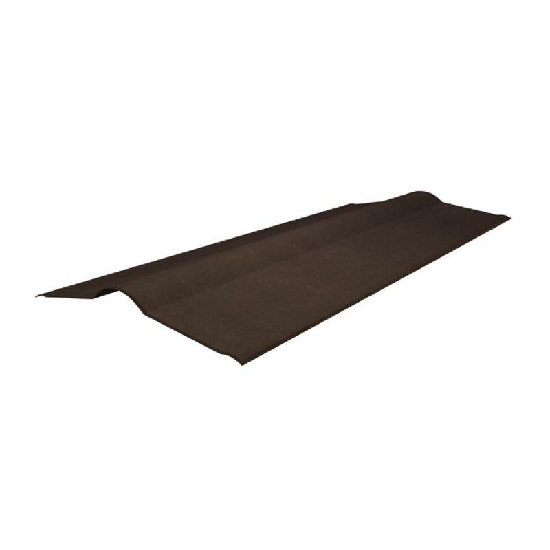 Коньковый элемент Onduline коричневый 1000 х 420 ммКоньковый элемент коричневый 1000 х 420 мм<br><br>Доборный&amp;nbsp;конек для скатной кровли<br><br>НАЗНАЧЕНИЕ:<br><br>Защищает примыкания скатов кровли от попадания осадков, мусора, влаги и пыли<br><br>ПРЕИМУЩЕСТВА:<br><br>Экологичность &amp;mdash; металлическая кровля безвредна для окружающей среды;<br>Долговечность эксплуатации &amp;mdash; срок службы достигает 50 лет при правильной установке;<br>Отсутствует необходимость в дополнительном уходе и обслуживании;<br>Легкость &amp;mdash; металлическое кровельное покрытие не нагружает каркас крыши;<br>Пожаробезопасность &amp;mdash; металлическая кровля относится к&amp;nbsp;слабогорючим&amp;nbsp;и трудновоспламеняемым материалам;<br>Кровля из металла обладает скользкой поверхностью, поэтому она не накапливает листья осенью и снег зимой.<br><br>РЕКОМЕНДАЦИИ:<br><br>Рекомендации по работе:<br><br>Правильно укладывайте&amp;nbsp;гидро-&amp;nbsp;и пароизоляцию, чтобы избежать скопления конденсата;<br>Используйте саморезы соответствующие толщине покрытия;<br>Старайтесь не нарушать декоративный слой кровельного покрытия, он защищает листы от коррозии;<br>Передвигайтесь по поверхности крыши в мягкой обуви;<br>Своевременно (через три месяца после установки) производите протяжку саморезов.<br><br>Рекомендации по хранению:<br><br>Храните металлическое покрытие в проветриваемом помещении недоступном для атмосферных воздействий.<br>Длина: 1000; Бренд: Onduline; Ширина: 420; Назначение: Еврошифер; Размер: 1000х420 мм; Толщина: 3 мм; Цвет: Коричневый; Покрытие: ПЭ (полиэстер);