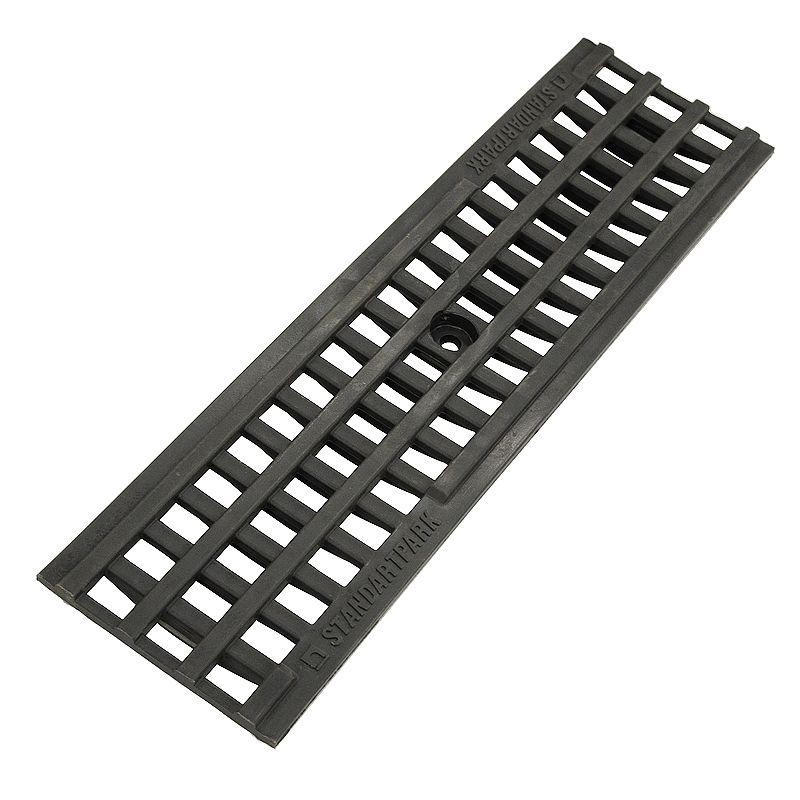 Купить Решетка водоприемная ячеистая пластиковая PolyMax Basic 500x136x18 мм, 20801, Standartpark, Пластик