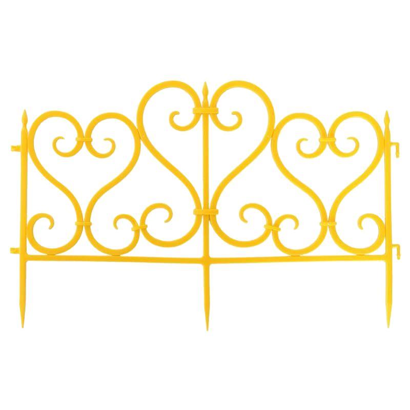 Ограждение пластиковое Ажурное, желтый МастерСадОграждение&amp;nbsp;пластиковое&amp;nbsp;Ажурное,&amp;nbsp;желтый&amp;nbsp;Мастер&amp;nbsp;Сад<br><br>Декоративное&amp;nbsp;ограждение&amp;nbsp;Ажурное&amp;nbsp;Мастер&amp;nbsp;Сад&amp;nbsp;высотой&amp;nbsp;25см&amp;nbsp;из&amp;nbsp;пластика,&amp;nbsp;цвет&amp;nbsp;желтый.<br><br>НАЗНАЧЕНИЕ:<br><br>Декоративная&amp;nbsp;функция,&amp;nbsp;придает&amp;nbsp;приусадебному&amp;nbsp;участку&amp;nbsp;аккуратный,&amp;nbsp;ухоженный&amp;nbsp;вид;<br>Зонирование,&amp;nbsp;разделение&amp;nbsp;на&amp;nbsp;тематические&amp;nbsp;участки;<br>В&amp;nbsp;качестве&amp;nbsp;опоры&amp;nbsp;для&amp;nbsp;невысоких&amp;nbsp;вьющихся&amp;nbsp;растений&amp;nbsp;и&amp;nbsp;кустарников.<br><br>ПРЕИМУЩЕСТВА:<br><br>Удобство&amp;nbsp;монтажа&amp;nbsp;и&amp;nbsp;демонтажа&amp;nbsp;(полуметровые&amp;nbsp;секции&amp;nbsp;соединяются&amp;nbsp;и&amp;nbsp;вгоняются&amp;nbsp;в&amp;nbsp;грунт,&amp;nbsp;не&amp;nbsp;требуя&amp;nbsp;никаких&amp;nbsp;специальных&amp;nbsp;инструментов,&amp;nbsp;установки&amp;nbsp;каркаса&amp;nbsp;или&amp;nbsp;заглубления&amp;nbsp;нижней&amp;nbsp;части);<br>Многофункциональность&amp;nbsp;&amp;ndash;&amp;nbsp;благодаря&amp;nbsp;гибкому&amp;nbsp;соединению&amp;nbsp;элементов,&amp;nbsp;с&amp;nbsp;помощью&amp;nbsp;одних&amp;nbsp;и&amp;nbsp;тех&amp;nbsp;же&amp;nbsp;секций&amp;nbsp;можно&amp;nbsp;изменять&amp;nbsp;дизайн&amp;nbsp;приусадебного&amp;nbsp;участка,&amp;nbsp;создавая&amp;nbsp;различные&amp;nbsp;по&amp;nbsp;форме&amp;nbsp;и&amp;nbsp;размерам&amp;nbsp;ограждения;<br>Легко&amp;nbsp;перемещать,&amp;nbsp;доставлять&amp;nbsp;в&amp;nbsp;нужное&amp;nbsp;место.&amp;nbsp;Продается&amp;nbsp;в&amp;nbsp;разобранном&amp;nbsp;виде,&amp;nbsp;в&amp;nbsp;полиэтиленовой&amp;nbsp;упаковке&amp;nbsp;(масса&amp;nbsp;ограждения&amp;nbsp;длиной&amp;nbsp;3&amp;nbsp;м&amp;nbsp;-&amp;nbsp;0.8кг,&amp;nbsp;размер&amp;nbsp;упаковки&amp;nbsp;51х35х7см);<br>Надежность,&amp;nbsp;долговечность&amp;nbsp;&amp;ndash;&amp;nbsp;пластик&amp;nbsp;устойчив&amp;nbs