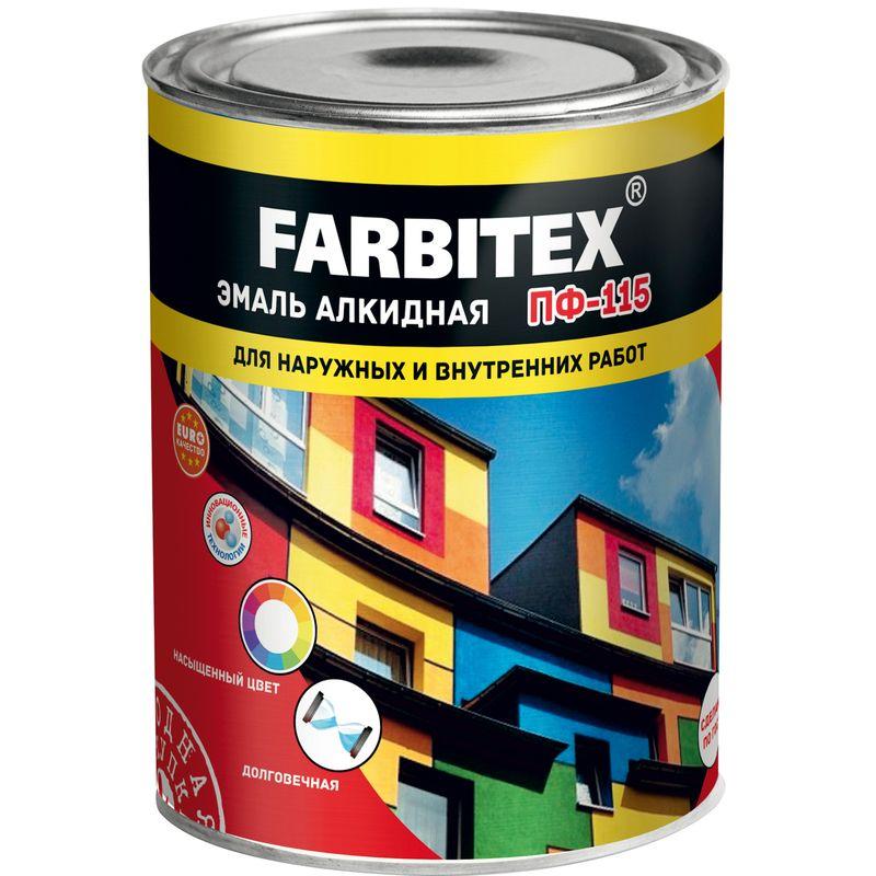 Эмаль ПФ-115 FARBITEX черная, 0,9кг