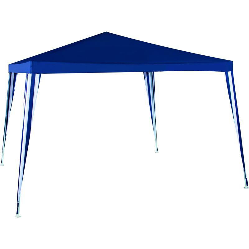 Шатер садовый 1022 GreenGladeТент шатер садовый 1022 GREENGLADE<br><br>Тент шатер садовый на четырехугольном каркасе без стен синий.<br><br>НАЗНАЧЕНИЕ:<br><br>Для проведения мероприятий на открытом воздухе;<br><br>В качестве летней беседки;<br><br>Для обустройства кафе и в сфере организации отдыха;<br><br>Подходит для использования на пикниках, кемпингах, рыбалке, в путешествиях.<br><br>ПРЕИМУЩЕСТВА:<br><br>Вместительный, площадь 9кв.м.;<br><br>Простота возведения конструкции, каркас из труб опор и кронштейнов;<br><br>Легкий (7кг), компактный (размер упаковки 115х13х17см) удобно переносить,<br><br>перевозить в автомобиле;<br><br>Многофункциональность, возможность модифицировать под необходимые условия<br><br>докупив одну или несколько стенок (глухих, с окном или с москитной сеткой);<br><br>Долгий срок эксплуатации (материал полиэстер 140г устойчив к<br><br>ультрафиолетовым лучам, не выгорает, не подвержен порчи молью и другими<br><br>вредителями);<br><br>Прочный каркас (металлическая трубка 19х19х25мм);<br><br>Крепление с помощью растяжек повышает устойчивость конструкции;<br><br>Насыщенный синий цвет.<br><br>РЕКОМЕНДАЦИИ:<br><br>Общие рекомендации:<br><br>В случае наличия неровностей на площадки, выбранной для установки тента,<br><br>следует первоначально их удалить;<br><br>Желательно устанавливать тент так, чтобы он не преграждал путь солнечному<br><br>свету к окнам вашего дома.<br><br>Рекомендации по хранению:<br><br>Убирать на хранение, вымытым и сухим;<br><br>Полотно тента сложить по направлению швов, разобранный каркас сложить в<br><br>назначенную для этого коробку;<br><br>Хранить в защищенном от погодных явлений и грызунов месте.<br><br>МЕРЫ ПРЕДОСТОРОЖНОСТИ:<br><br>Не использовать при сильном дожде и ветре;<br><br>Не использовать как костровый тент.<br>Цвет: Синий; Материал тента: Полиэстер; Производитель: Green-glade; Количество граней: 4; Модель/артикул производителя: 1022; Высота: 2,5 м; Комплектация стенками: Без стенок; Материал каркаса: Сталь; Вес: 9 к