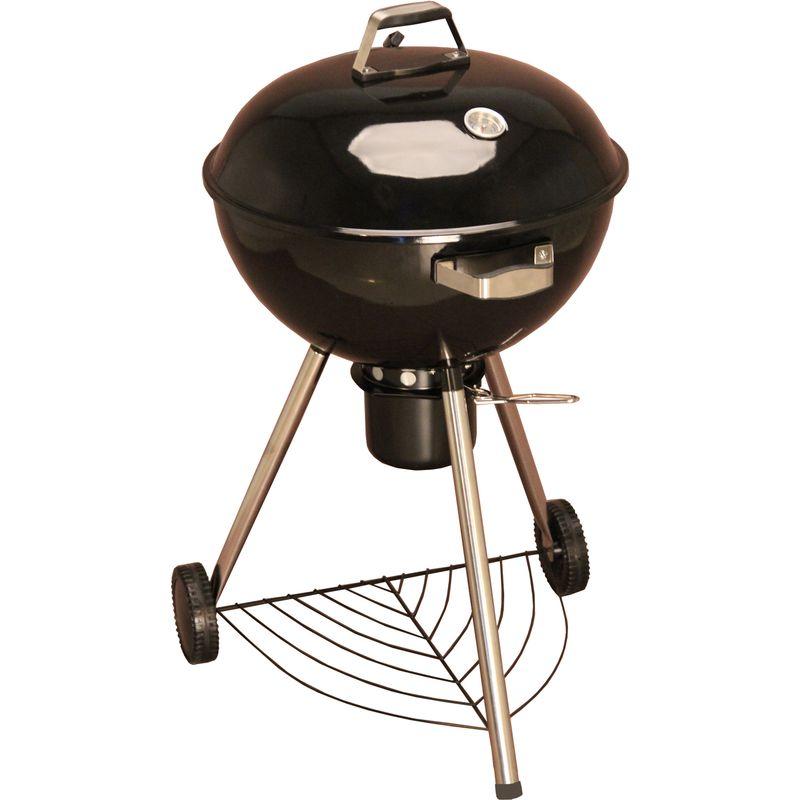 Гриль K222 GreenGladeГриль Green Glade К222<br><br>Гриль, коптильня круглого сечения диаметром 53см на колесиках с хромированной&amp;nbsp;решеткой для приготовления.<br><br>НАЗНАЧЕНИЕ:<br><br>Устройство для приготовления еды на улице;<br><br>Для жарки мяса, рыбы, овощей, рыбы, мяса на углях, жару без масла и жира.<br><br>ПРЕИМУЩЕСТВА:<br><br>Топливо - древесный уголь (приготовленная пища имеет приятный аромат дымка).<br><br>Вместительный &amp;ndash; диаметр жарочной поверхности 53см, позволяет приготовить на&amp;nbsp;большую компанию, устанавливать в летних открытых кафе, брать на выездные&amp;nbsp;мероприятия;<br><br>Крышка обеспечивает всестороннюю термическую обработку пищи;<br><br>Два регулятора подачи воздуха для выбора нужного режима приготовления еды;<br><br>Ручки на крышке и чаше гриля из нержавеющей стали и бакелита (пластика);<br><br>Полочка для хранения подручных приборов, специй;<br><br>Пепелосборник;<br><br>Устойчивость, стойка на двух колесах (для удобства перемещения по участку) и&amp;nbsp;одной опоры;<br><br>Износостойкость - модель изготовлена из стали с жаростойким покрытием&amp;nbsp;(толщина стали крышка-0,6мм, чаша-0,8мм);<br><br>Хромированное покрытие решетки для приготовления повышает твердость,&amp;nbsp;жаропрочность, коррозийную стойкость;<br><br>Эффект копчения &amp;ndash; разожженные угли или угольные брикеты располагают по&amp;nbsp;бокам котла, используются вымоченные опилки ольхи, свежих и сухих трав;<br><br>Возможность пользоваться в любом месте (электрический гриль требует&amp;nbsp;подключения к сети, газовый нуждается в топливных баллонах).<br><br>РЕКОМЕНДАЦИИ:<br><br>Общие рекомендации:<br><br>Хорошо закрывать при копчении (недостаток кислорода создаст условия, при&amp;nbsp;которых щепа будет дымить и не загорится);<br><br>Регулярно очищать от загрязнений, с помощью жесткой (неабразивной) губки с&amp;nbsp;жирорастворяющим средством для гриля;<br><br>Освобождайте от золы после каждого использования.<br><br>МЕРЫ ПРЕДОСТОРОЖНОСТИ:<br><br
