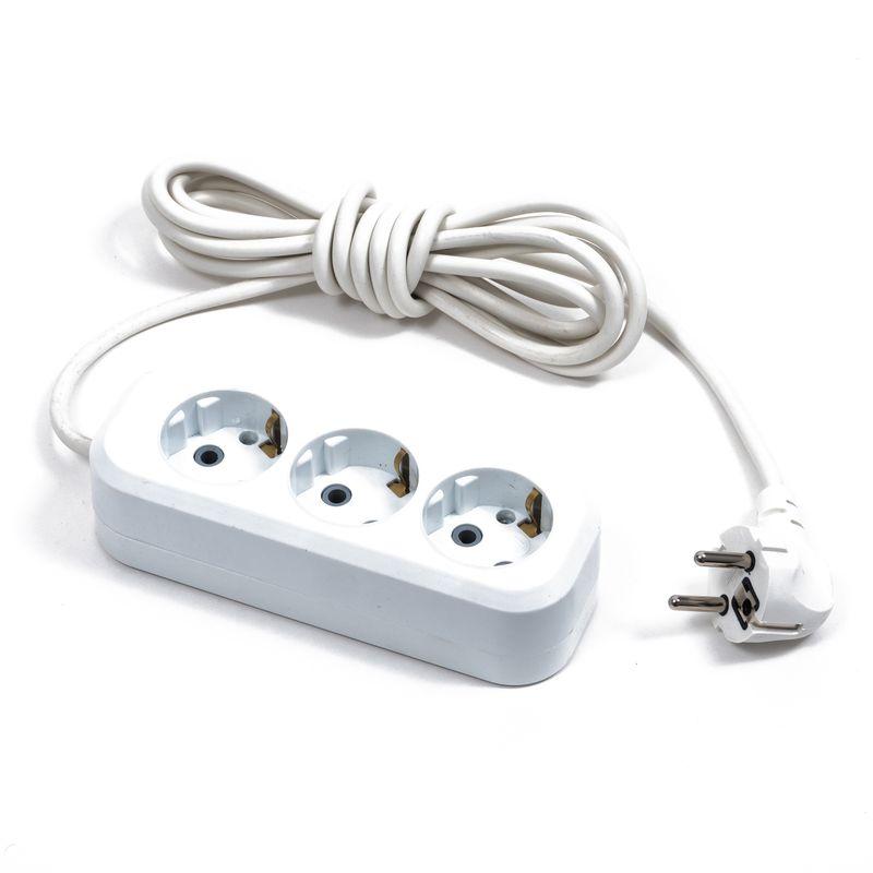 Удлинитель электрический с/з 3м/3роз (ПВС3*0.75) СТОС