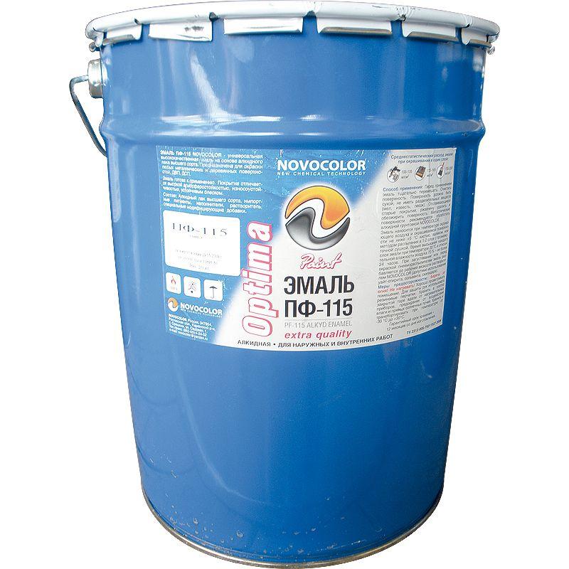 Эмаль ПФ-115 Оптима синяя, 20кг<br>Бренд: Новоколор; Название: Пф- 115 оптима; Маркировка: Пф-115; Цвет производителя: Синий; Состав: Алкидная; Объем: 15,4 л; Вес: 20 кг; Расход: 50-250 г/м2; Степень блеска: Глянцевая; Фактура: Гладкая; Тип поверхности: Металл; Тип поверхности: Дерево; Назначение: Для металла; Назначение: Для дерева; Срок годности: 12 мес; Разбавитель: Сольвент; Разбавитель: Скипидар; Разбавитель: Уайт-спирит; Способ нанесения: Валик; Способ нанесения: Кисть; Способ нанесения: Краскопульт; Тип работ: Для внутренних работ; Тип работ: Для наружных работ; Время высыхания: До 24 часов; Цвет: Синий;