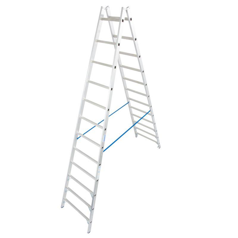 Двустронняя лестница с перекладинами Krause, 460 см