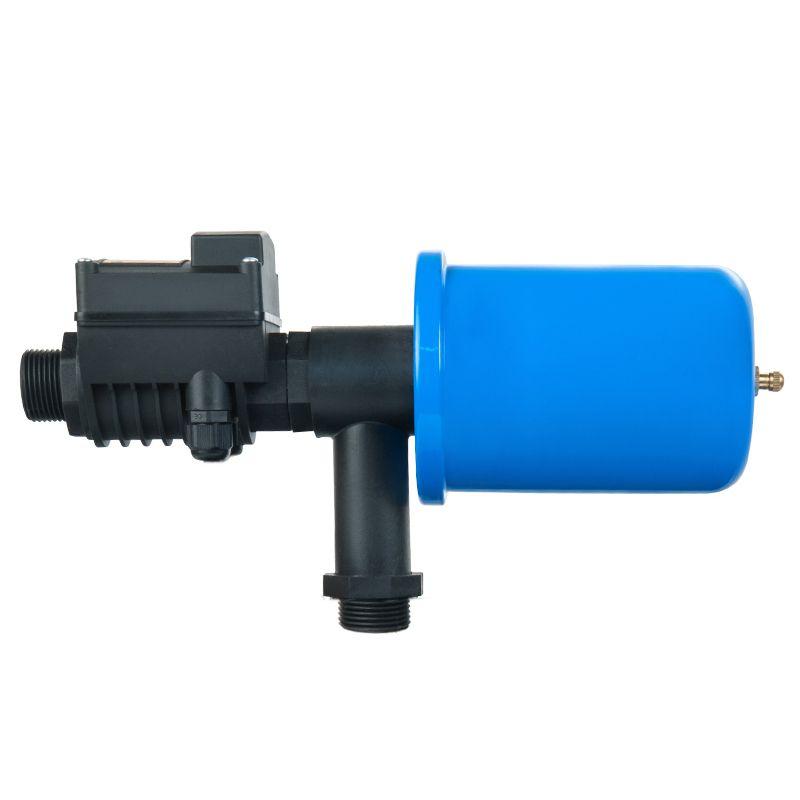 Комплект автоматики Unipump АКВАРОБОТ ТУРБИ-М1 с г/а 2л<br>Тип блока: Однопороговый; Пороги давления: 1,5-3,0 бар; Предельное давление: 6 бар; Мощность насоса: до 1500 Вт; Максимальный ток: 16 А; Чувствительность датчика потока: 2 л/мин; Производительность насоса: 6 м?/ч; Тип воды: Чистая вода; Максимальная температура воды: + 35 °С; Максимальный размер частиц: 1 мм; Тип присоединения: Нр-нр; Дополнительные функции: Гидроаккумулятор 2 л; Дополнительные функции: Защита от сухого хода; Бренд: Unipump; Страна производитель: Россия; Модель: Турби-м1; Гарантия: 24 мес;