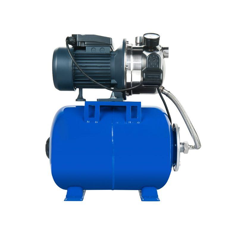 Насосная станция Unipump AUTO JS 100 - 5<br>Вид: Поверхностная; Применение: Водоснабжение; Применение: Поддержание давления в системе водоснабжения; Рабочая среда: Чистая вода; Объем бака: 24 л; Максимальный размер частиц: 1 мм; Допустимое содержание частиц: 100 г/м?; Производительность: 3,3 м?/час; Глубина всасывания: 8 м; Высота подъема воды: 40 м; Давление включения: 1,5 бар; Давление выключения: 3 бар; Минимальная температура воды: +1 °С; Максимальная температура воды: + 35 °С; Мощность: 750 Вт; Напряжение: 220-+10 В; Длина: 480 мм; Ширина: 320 мм; Высота: 505 мм; Вес: 14,2 кг; Присоединительный диаметр: 1 ; Материал корпуса: Нержавеющая сталь; Степень защиты: IP Х4; Комплектация: Автоматика; Комплектация: Гидробак; Комплектация: Манометр; Бренд: Unipump; Страна производитель: Россия; Модель: Auto js 100; Гарантия: 2 года;