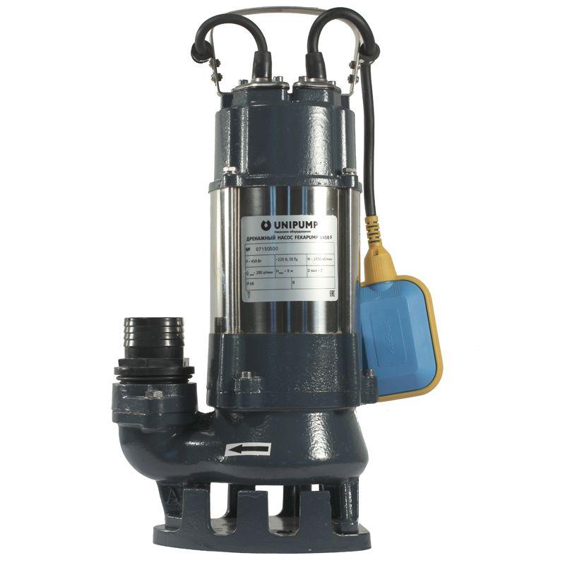 Насос фекальный Unipump FEKAPUMP V 1500F<br>Вид: Погружной; Тип: Дренажный; Максимальный размер частиц: 10 мм; Глубина погружения: 5 м; Высота подъема воды: 22 м; Минимальная температура воды: 0 °С; Напряжение: 220 В; Вес: 27 кг; Присоединительный диаметр: 40 ; Длина кабеля: 10 м; Дополнительные функции: Поплавковый выключатель; Бренд: Unipump; Страна производитель: Россия; Модель: V1500F; Гарантия: 2 года;