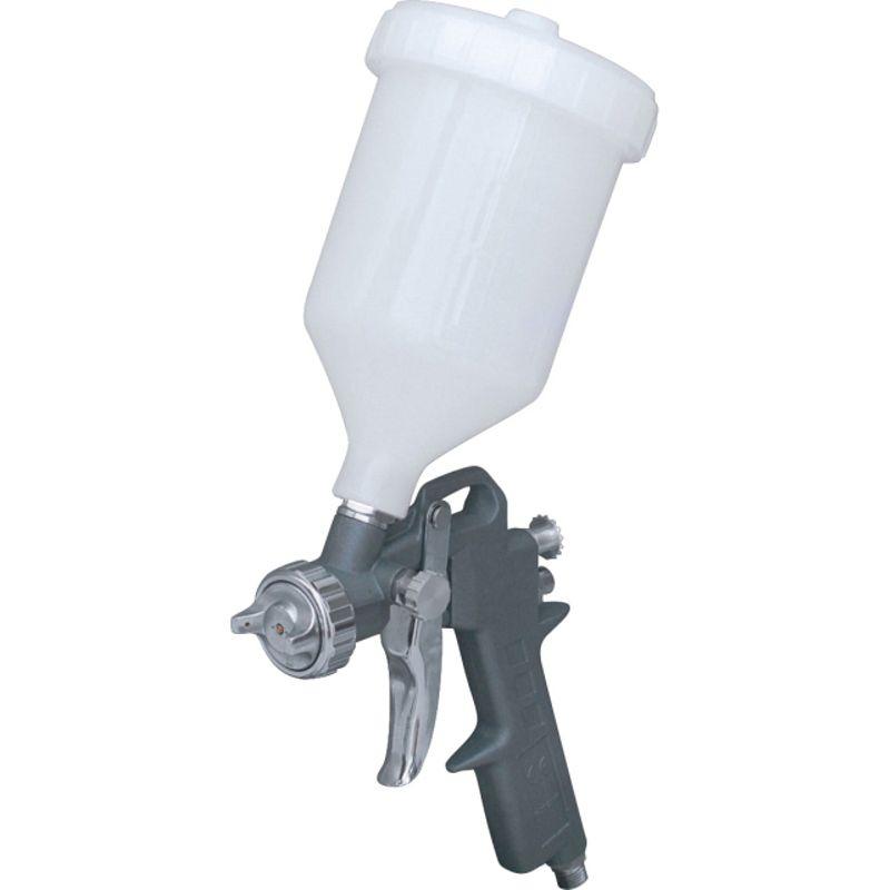 Краскопульт пневматический Кратон HP-03G<br>Бренд: Кратон; Модель: Hp-03g; Расположение бачка: Сверху; Тип соединения: Резьбовое; Диаметр сопла: 1,5 мм; Размер входного штуцера: 1/4 дюйма; Объем бачка: 0,6 л; Способ распыления краски: HP (высокое давление); Ширина окрасочного факела: 180-250 мм; Рабочее давление: 3-4 атм; Расход воздуха: 120-200 л/мин; Особые свойства: Регулировка расхода воздуха; Особые свойства: Регулировка расхода краски; Особые свойства: Регулировка ширины красочного факела; Комплектация: Бачок для ЛКМ; Комплектация: Ключ универсальный; Комплектация: Щетка; Комплектация: Штуцер; Комплектация: Фильтр для ЛКМ; Комплектация: Краскопульт; Вес: 0,5 кг;