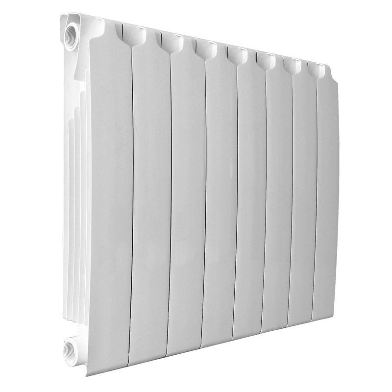 Радиатор биметаллический Sira RS 500 8 секций<br>Межосевое расстояние: 500 мм; Глубина секции: 87/95 мм; Количество секций: 8; Теплоотдача секции: 201 Вт; Теплоотдача радиатора: 1608 Вт; Высота секции: 572 мм; Ширина секции: 80 мм; Объем секции: 0.2 л; Объем радиатора: 1.6 л; Максимальная температура теплоносителя: 135 °С; Рабочее давление: 40 атм; Значение водородного показателя, оптимальное: Ph 7 9 pH; Вес секции: 1.92 кг; Диаметр подключения: 1 ; Модель: Rs500; Бренд: Sira; Цвет: Ral 9010; Страна производитель: Italy; Гарантийный срок: 20 лет лет; Срок эксплуатации: не менее 20 лет;