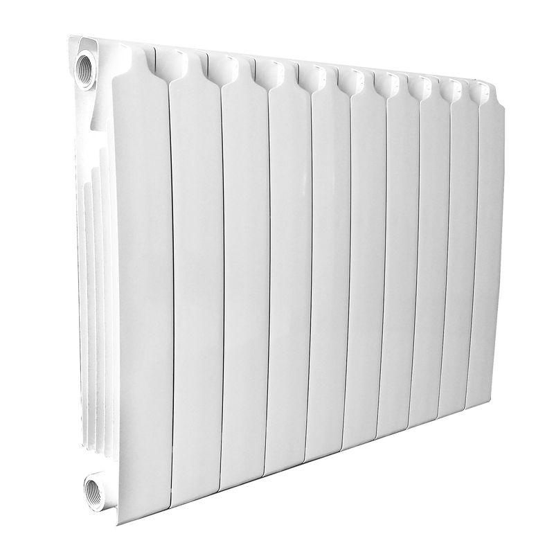 Радиатор биметаллический Sira RS 800 10 секций<br>Межосевое расстояние: 800 мм; Глубина секции: 87/95 мм; Количество секций: 10; Теплоотдача секции: 282 Вт; Теплоотдача радиатора: 2820 Вт; Высота секции: 872 мм; Ширина секции: 80 мм; Объем секции: 0.25 л; Объем радиатора: 2.5 л; Максимальная температура теплоносителя: 135 °С; Рабочее давление: 40 атм; Значение водородного показателя, оптимальное: Ph 7 9 pH; Вес секции: 2.61 кг; Диаметр подключения: 1 ; Модель: Rs800; Бренд: Sira; Цвет: Ral 9010; Страна производитель: Italy; Гарантийный срок: 20 лет лет; Срок эксплуатации: не менее 20 лет;