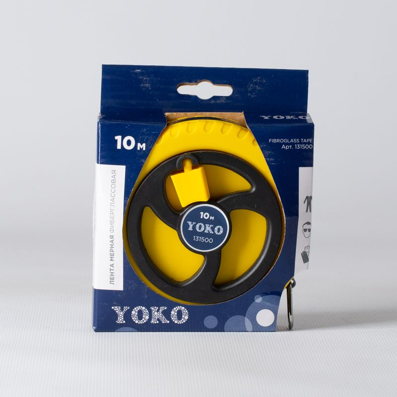 Лента мерная 10м фиберглассовая YOKO<br>