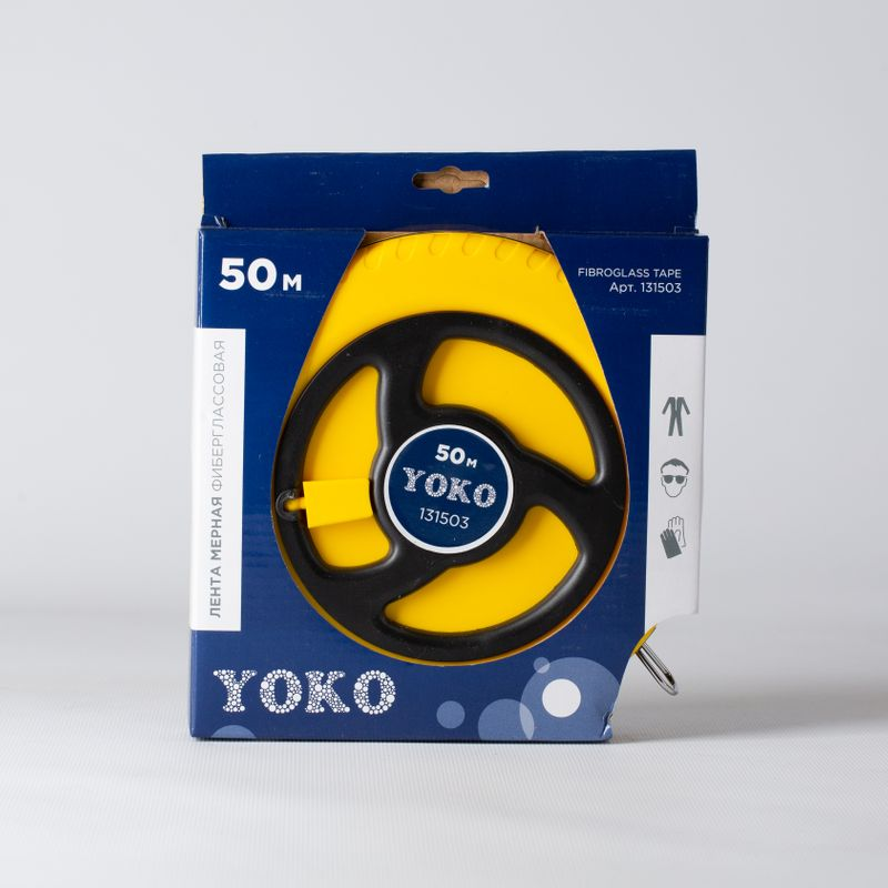 Лента мерная 50м фиберглассовая YOKO<br>