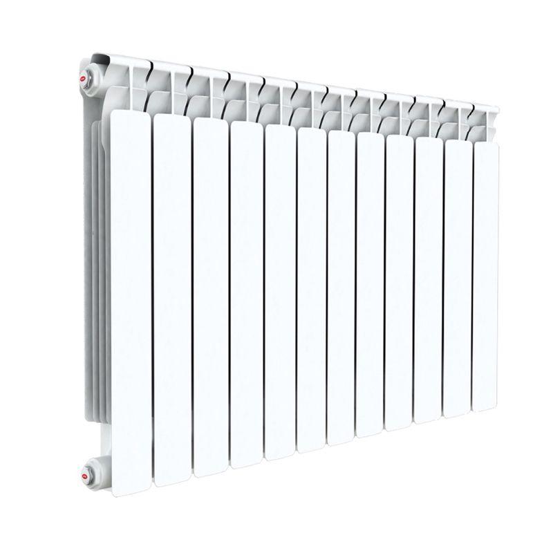 Радиатор алюминиевый RIFAR Alum 500 8 секцийРадиатор алюминиевый RIFAR Alum 500-8<br><br>Литой алюминиевый радиатор на 8 секций для использования в отопительных системах зданий. Использует нижний тип подключения.<br><br>НАЗНАЧЕНИЕ<br><br>Отопление помещений с влажностью не выше 75%;<br><br>Подходит для теплоносителя с водородным показателем 7-8 pH;<br><br>Установка в системе отопления многоквартирного дома со строгим контролем её работы и состава воды;<br><br>Установка в зданиях с автономной системой отопления (жилые дома, коттеджи, гаражи);<br><br>Проведение системы отопления с нуля;<br><br>Замена старых радиаторов.<br><br>ПРЕИМУЩЕСТВА<br><br>Высокое рабочее давление (20 атм ~ 2 МПа);<br><br>Секции относительно небольшого объема (0.27 л) при тепловой мощности 1464 Вт;<br><br>Вес 11,6 кг - легкий, удобно при монтаже;<br><br>Возможно использование с водой, маслом или антифризом в качестве теплоносителя;<br><br>Продукт прошел сертификацию САНРОС (орган по сертификации отопительного оборудования);<br><br>Простота монтажа (возможность самостоятельной установки);<br><br>Надежность - модель прошла испытания на герметичность, проведенные при давлении 30 атм;<br><br>Сечение вертикального канала разработано с учетом наименьшего гидравлического соединения, что обеспечивает высокую скорость теплоносителя;<br><br>Максимальный допустимый нагрев теплоносителя - 135 градусов;<br><br>Долговечный (литая конструкция, алюминиевые секции, герметичные соединения, срок службы при соблюдении требований и рекомендаций - от 25 лет).<br><br>РЕКОМЕНДАЦИИ<br><br>Во время транспортировки возможно ослабление ниппельных соединений. Перед установкой проверить их и подтянуть при необходимости;<br><br>Проводить установку только после достижения радиатором комнатной температуры естественным образом, без прямого воздействия нагревательных приборов;<br><br>Подключать радиатор к пластиковым трубам, так как на металлических алюминий вызовет появление коррозии;<br><br>Для эффективного обогрева расстояние 