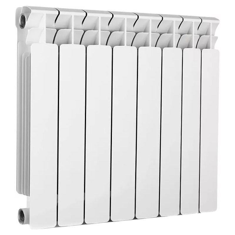Радиатор биметаллический RIFAR B500 9 секций<br>Межосевое расстояние: 500 мм; Глубина секции: 100 мм; Количество секций: 9; Теплоотдача секции: 204 Вт; Теплоотдача радиатора: 1836 Вт; Высота секции: 570 мм; Ширина секции: 80 мм; Объем секции: 0.2 л; Объем радиатора: 1.8 л; Максимальная температура теплоносителя: 135 c °С; Рабочее давление: 20 атм; Значение водородного показателя, оптимальное: 7-8,5 pH; Вес секции: 1.92 кг; Диаметр подключения: 1 ; Модель: Base; Бренд: Rifar; Цвет: Ral 9016; Страна производитель: Россия; Гарантийный срок: 10 лет; Срок эксплуатации: не менее 20 лет;