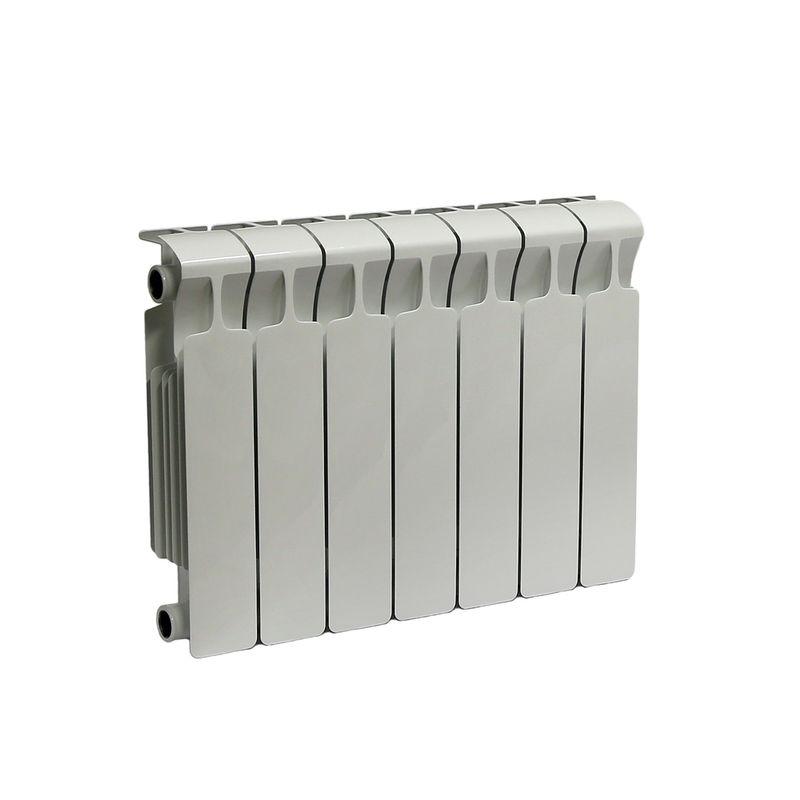 Радиатор биметаллический RIFAR Monolit 350 7 секцийБиметаллический радиатор RIFAR Monolit 350 х 7 сек<br><br>Литой биметаллический радиатор с боковым подключением на 7 секций для использования в отопительных системах<br><br>многоквартирных домов или административных зданий.<br><br>НАЗНАЧЕНИЕ:<br><br>Установка в системе отопления многоквартирного дома или офисного здания;<br>Работа с любым теплоносителем - незамерзающая жидкость, масло, пар или вода;<br>Возможно использование в помещениях любого назначения, в том числе в школах и медицинских учреждениях;<br>Подходит для помещений с относительной влажностью воздуха не более 75%;<br>Проведение системы отопления с нуля или замена старых радиаторов.<br><br>ПРЕИМУЩЕСТВА:<br><br>Оперативная регулировка температуры в помещении;<br>Устойчивость к коррозии - выдерживает агрессивный теплоноситель без поломок;<br>Максимальный допустимый нагрев теплоносителя - 135 градусов;<br>Долговечность и надежность - литая стальная конструкция, толстые стенки коллектора, срок службы при соблюдении требований по установке и эксплуатации 25 лет;<br>Испытательное давление 150 атм - устойчив к гидравлическим и пневматическим ударам;<br>Отсутствие стыков исключает вероятность протечки;<br>Простота монтажа (возможность самостоятельной установки);<br>Сечение вертикального канала разработано с учетом наименьшего гидравлического соединения, что обеспечивает высокую скорость теплоносителя;<br>Современный дизайн.<br><br>РЕКОМЕНДАЦИИ:<br><br>Во время транспортировки возможно ослабление ниппельных соединений. Перед установкой проверить их и подтянуть при необходимости;<br>Монтировать и присоединять радиатор, не снимая защитной пленки, чтобы не нанести случайных повреждений;<br>В случае хранения или транспортировки радиатора в условиях низких температур, до начала монтажа оставить его в помещении до принятия комнатной температуры.<br><br>Запрещается отогревать его искусственно;<br>Обеспечить ровное горизонтальное положение радиатора;<br>Производитель рек