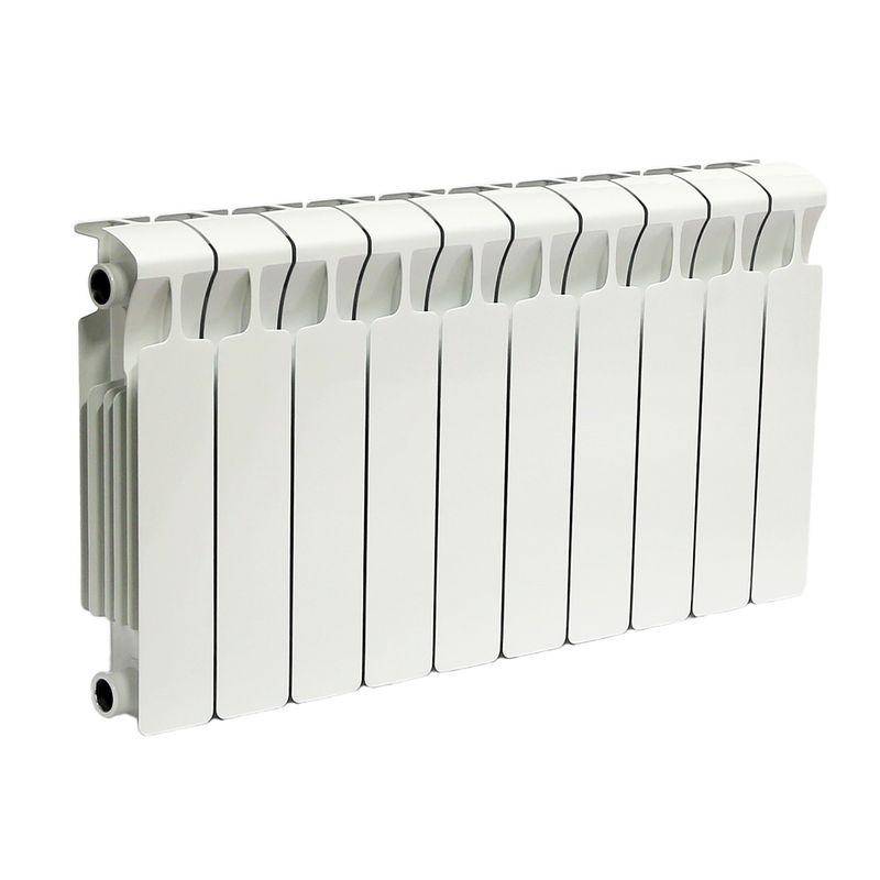 Радиатор биметаллический RIFAR Monolit 350 10 секций НП лев (MVL)Биметаллический радиатор RIFAR Monolit 350 х 10 сек (MVL)<br><br>Литой биметаллический радиатор с нижним левым подключением на 10 секций для использования в отопительных системах<br><br>многоквартирных домов или административных зданий.<br><br>НАЗНАЧЕНИЕ:<br><br>Установка в системе отопления многоквартирного дома или офисного здания;<br>Работа с любым теплоносителем - незамерзающая жидкость, масло, пар или вода;<br>Возможно использование в помещениях любого назначения, в том числе в школах и медицинских учреждениях;<br>Подходит для помещений с относительной влажностью воздуха не более 75%;<br>Проведение системы отопления с нуля или замена старых радиаторов.<br><br>ПРЕИМУЩЕСТВА:<br><br>Оперативная регулировка температуры в помещении;<br>Устойчивость к коррозии - выдерживает агрессивный теплоноситель без поломок;<br>Максимальный допустимый нагрев теплоносителя - 135 градусов;<br>Долговечность и надежность - литая стальная конструкция, толстые стенки коллектора, срок службы при соблюдении требований по установке и эксплуатации 25 лет;<br>Испытательное давление 150 атм - устойчив к гидравлическим и пневматическим ударам;<br>Отсутствие стыков исключает вероятность протечки;<br>Простота монтажа (возможность самостоятельной установки);<br>Сечение вертикального канала разработано с учетом наименьшего гидравлического соединения, что обеспечивает высокую скорость теплоносителя;<br>Современный дизайн.<br><br>РЕКОМЕНДАЦИИ:<br><br>Во время транспортировки возможно ослабление ниппельных соединений. Перед установкой проверить их и подтянуть при необходимости;<br>Монтировать и присоединять радиатор, не снимая защитной пленки, чтобы не нанести случайных повреждений;<br>В случае хранения или транспортировки радиатора в условиях низких температур, до начала монтажа оставить его в помещении до принятия комнатной температуры.<br><br>Запрещается отогревать его искусственно;<br>Обеспечить ровное горизонтальное положение ради