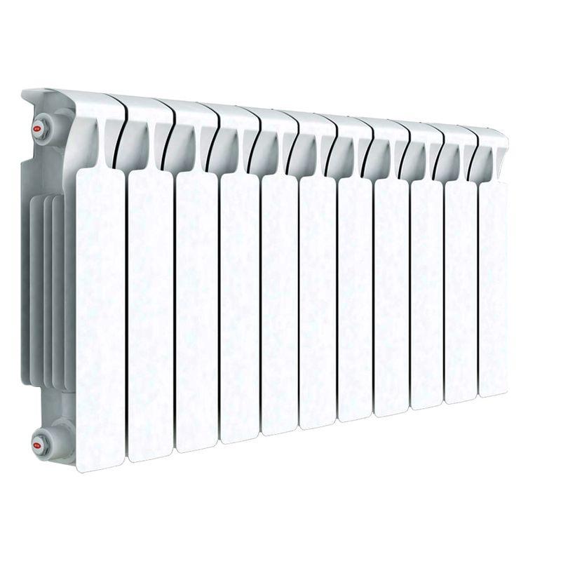 Радиатор биметаллический RIFAR Monolit 350 11 секций НП прав (MVR)Биметаллический радиатор RIFAR Monolit 350 х 11 сек (MVR)<br><br>Литой биметаллический радиатор с нижним правым подключением на 11 секций для использования в отопительных системах<br><br>многоквартирных домов или административных зданий.<br><br>НАЗНАЧЕНИЕ:<br><br>Установка в системе отопления многоквартирного дома или офисного здания;<br>Работа с любым теплоносителем - незамерзающая жидкость, масло, пар или вода;<br>Возможно использование в помещениях любого назначения, в том числе в школах и медицинских учреждениях;<br>Подходит для помещений с относительной влажностью воздуха не более 75%;<br>Проведение системы отопления с нуля или замена старых радиаторов.<br><br>ПРЕИМУЩЕСТВА:<br><br>Оперативная регулировка температуры в помещении;<br>Устойчивость к коррозии - выдерживает агрессивный теплоноситель без поломок;<br>Максимальный допустимый нагрев теплоносителя - 135 градусов;<br>Долговечность и надежность - литая стальная конструкция, толстые стенки коллектора, срок службы при соблюдении требований по установке и эксплуатации 25 лет;<br>Испытательное давление 150 атм - устойчив к гидравлическим и пневматическим ударам;<br>Отсутствие стыков исключает вероятность протечки;<br>Простота монтажа (возможность самостоятельной установки);<br>Сечение вертикального канала разработано с учетом наименьшего гидравлического соединения, что обеспечивает высокую скорость теплоносителя;<br>Современный дизайн.<br><br>РЕКОМЕНДАЦИИ:<br><br>Во время транспортировки возможно ослабление ниппельных соединений. Перед установкой проверить их и подтянуть при необходимости;<br>Монтировать и присоединять радиатор, не снимая защитной пленки, чтобы не нанести случайных повреждений;<br>В случае хранения или транспортировки радиатора в условиях низких температур, до начала монтажа оставить его в помещении до принятия комнатной температуры.<br><br>Запрещается отогревать его искусственно;<br>Обеспечить ровное горизонтальное положение ра