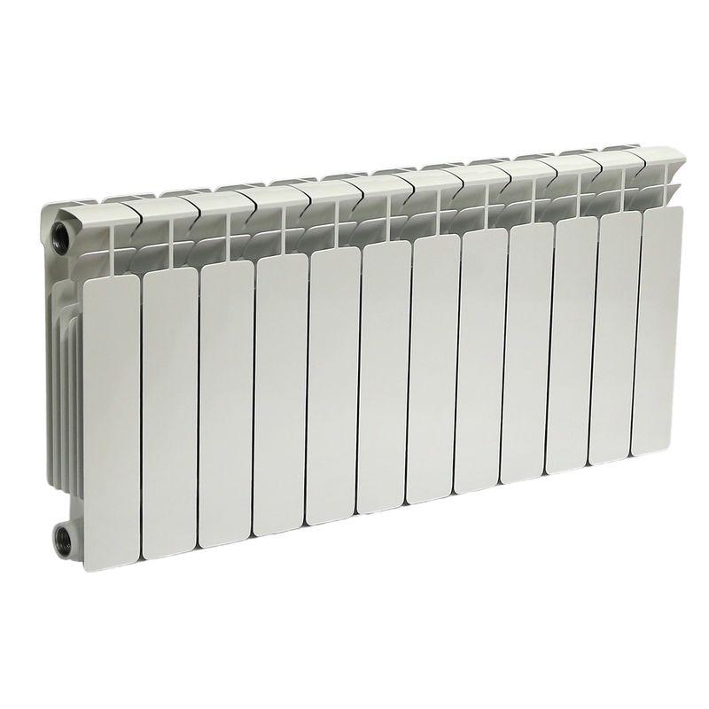 Радиатор биметаллический RIFAR В350 12 секций<br>Межосевое расстояние: 350 мм; Глубина секции: 90 мм; Количество секций: 12; Теплоотдача секции: 136 Вт; Теплоотдача радиатора: 1632 Вт; Высота секции: 415 мм; Ширина секции: 80 мм; Объем секции: 0.18 л; Объем радиатора: 2.16 л; Максимальная температура теплоносителя: 135 c °С; Рабочее давление: 20 атм; Значение водородного показателя, оптимальное: 7-8,5 pH; Вес секции: 1.36 кг; Диаметр подключения: 1 ; Модель: Base; Бренд: Rifar; Цвет: Ral 9016; Страна производитель: Россия; Гарантийный срок: 10 лет; Срок эксплуатации: не менее 20 лет;