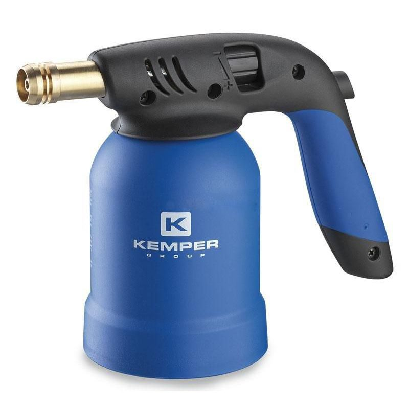 Лампа паяльная газовая KEMPER KE2019<br>Бренд: Kemper; Модель: Ke2019; Код производителя: -; Мощность: 3300 Вт; Тип топлива: Газ; Газ: Пропан-бутан; Температура пламени: 1900 °С; Максимальный расход топлива: 140 гр/час; Объем бака: Нет л; Резьба: 7/16 ; Дополнительные функции: Пьезозажиг; Комплектация: Баллон; Родина бренда: Италия; Страна производитель: Китай; Гарантия: 12 мес; Вес: 0,51 кг;