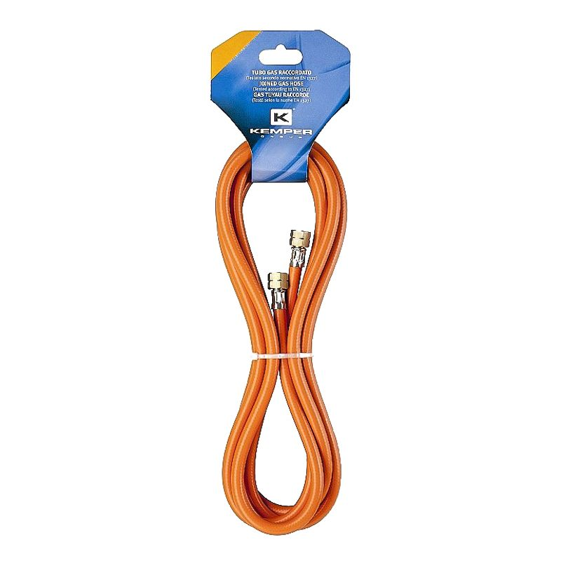 Шланг газовый KEMPER 61805D<br>Бренд: KEMPER; Модель: 61805d; Код производителя: 61805d; Длина: 5 м; Размер присоединения к горелке: 3/8 ; Размер присоединения к баллону: 3/8 ; Материал шланга: PVC; Материал фитинга: Латунь; Газ: Пропан-бутан; Мин. температура эксплуатации: -30 °С; Макс. температура эксплуатации: +40 °С; Давление: 40 бар; Внешний диаметр: 14 мм; Внутренний диаметр: 8 мм; Родина бренда: Италия; Страна производитель: Италия; Вес: 0.879 кг;