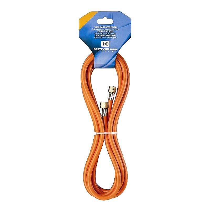 Шланг газовый KEMPER 61805F<br>Бренд: KEMPER; Модель: 61805f; Код производителя: 61805f; Длина: 5 м; Размер присоединения к горелке: 3/8 ; Размер присоединения к баллону: 3/4 ; Материал шланга: PVC; Материал фитинга: Латунь; Газ: Пропан-бутан; Мин. температура эксплуатации: -30 °С; Макс. температура эксплуатации: +40 °С; Давление: 40 бар; Внешний диаметр: 14 мм; Внутренний диаметр: 8 мм; Родина бренда: Италия; Страна производитель: Италия; Вес: 0,417 кг;