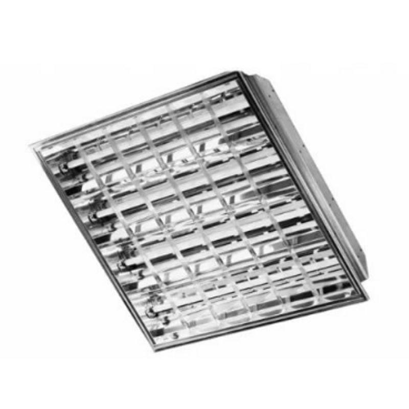 Купить со скидкой Светильник люминесцентный МИСТРАЛЬ 4х18 НF ECO встраиваемый зеркальный металлик ЭПРА
