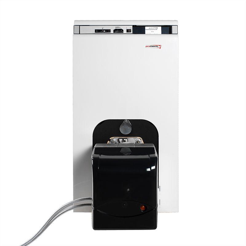 Котел напольный на газовом / дизельном топливе Protherm Бизон 60 NL (0010003944)Комбинированный котел отопления Protherm Бизон 60 NL (0010003944)<br><br>Напольный&amp;nbsp;одноконтурный&amp;nbsp;отопительный котел номинальной тепловой мощностью 59,7 кВт, работающий на дизеле, природном или сжиженном газе,<br><br>с чугунным двухходовым теплообменником, закрытой камерой сгорания, вентиляторной горелкой (комплектуется отдельно),<br><br>для закрытых отопительных систем и приготовления горячей воды во внешнем бойлере (комплектуется отдельно),<br><br>для использования в жилых и промышленных помещениях.<br><br>НАЗНАЧЕНИЕ:<br><br>Применение в отопительных системах с закрытой циркуляцией теплоносителя;<br>Нагрев воды для системы теплых полов (водных);<br>Использования для горячего водоснабжения (при подключении бойлера);<br><br>ПРЕИМУЩЕСТВА:<br><br>Универсальность: может работать на природном или сжиженном газе, дизеле или мазуте;<br>Многофункциональность: может использоваться для отопления, обеспечения горячего водоснабжения, а также для системы водяных подогреваемых полов;<br>Может быть частью системы отопления, состоящей из нескольких котлов (каскадное соединение до 16 котлов);<br>Высокий КПД 89% благодаря вентиляторной горелке (не входит в комплект);<br>Закрытая камера внутреннего сгорания обеспечивает постоянную высокую производительность и низкое количество вредных веществ в продуктах сгорания;<br>Защита от перегрева: охладительный контур предотвращает нагрев теплоносителя (воды) свыше 110С;<br>Долговечность: чугунный теплообменник с системой защиты от конденсата;<br>В целях экономии топлива котел может комплектоваться&amp;nbsp;погодозависимой&amp;nbsp;автоматикой;<br>Для поддержания и регулирования необходимой температуры в помещении, можно установить комнатные термостаты;<br>Точный контроль над работой прибора: индикаторы температуры и давления теплоносителя (воды), наличия пламени и тяги в дымоходе.<br><br>РЕКОМЕНДАЦИИ:<br><br>Устанавливайте котел только в предназна